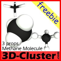 Methane Molecule for Poser